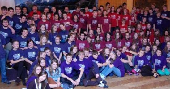 Fotografie ke článku: Školy Visegrádské čtyřky se sešly pod Radhoštěm