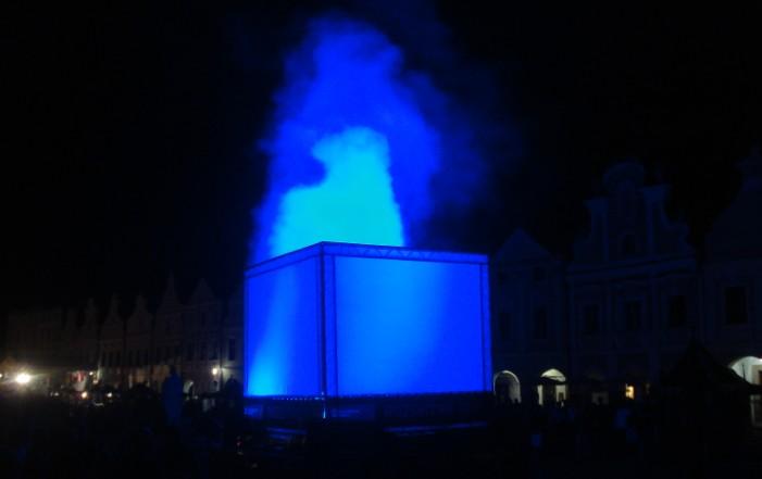 Fotografie ke článku: V Telči rozsvítili památku, předcházela tomu lightshow