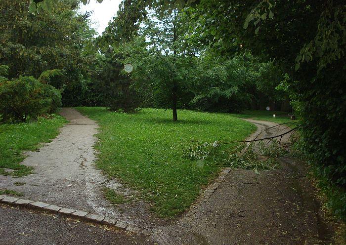Fotografie ke článku: Vydatné deště na Vysočině páchají škody